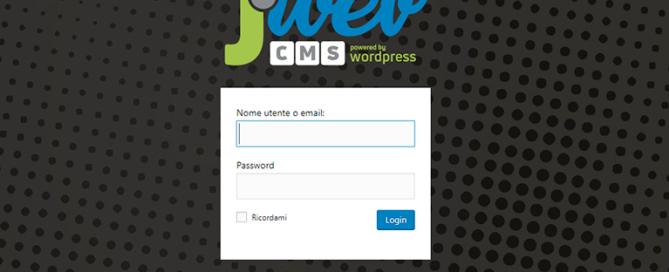Pannello Jweb Studio login
