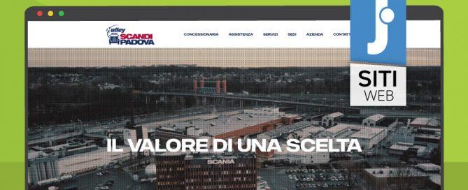 Jweb Studio per Scandipadova un sito a misura di Scania